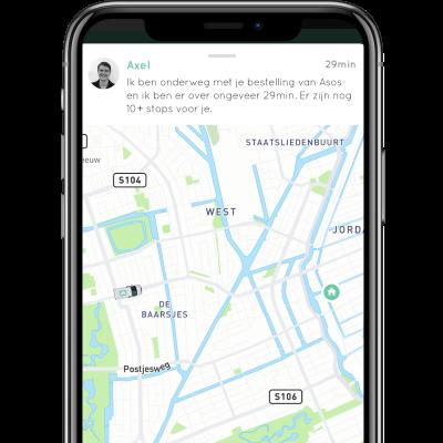Live tracking Budbee app