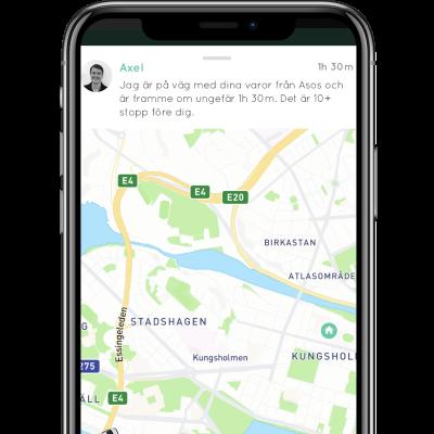Följ din leverans Budbee app